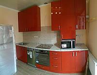 Кухня на заказ МДФ крашеный глянец