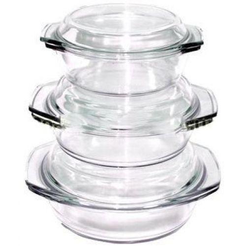 Набор стеклянных термокастрюль Stenson MS-0080
