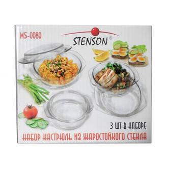 Набор стеклянных термокастрюль Stenson MS-0080, фото 2
