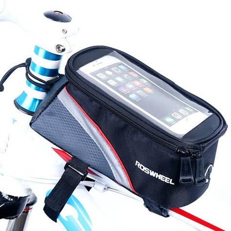 Нарамная сумка для велосипеда, велосумка для смартфона 5.5 Roswheel, фото 2