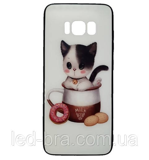 Чехол для Samsung S8 White Cat