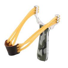 Компактная металлическая рогатка для спорта, рыбалки