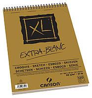 Альбом для рисунка Canson™ XL Croquis Extra White /90 g, A3, 120 листов на спирали/