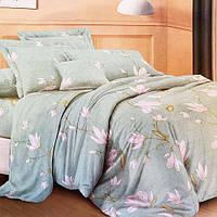 Комплект постельного белья цветы полуторный 150/210