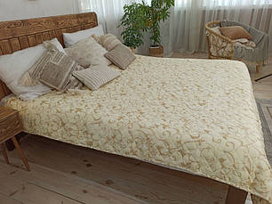 Покрывало на кровать, диван 200х220 Завиток бежевый евро, фото 2