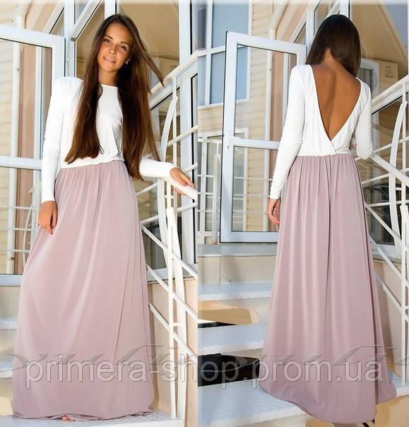 e9abbfaae5c Платье макси с открытой спиной