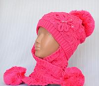Зимние шапочки на девочек