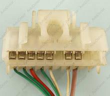 Разъем автомобильный 10-pin/контактный. Мама. 45×14 mm. Б.У