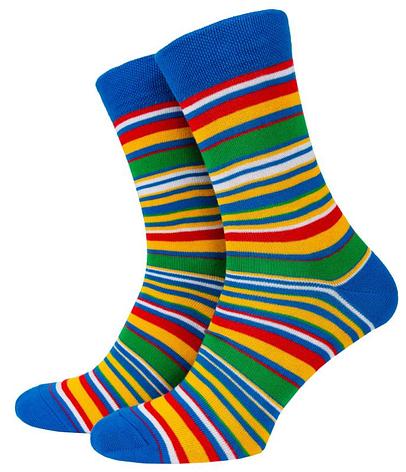 Носки Mushka Blue-green stripe (BGS001) 41-45, фото 2