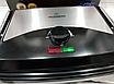 Электрический прижимной контактный гриль с терморегулятором CROWNBERG CB-1067 2000W, фото 4