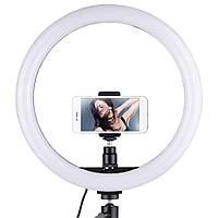 Кольцевая LED лампа USB с держателем для телефона Ring Fill Light SL300 (30 см)