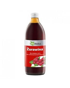 Сок клюквы, клюквенный сок 100% натуральный, 500 мл, без консервантов, без сахара, EkaMedica