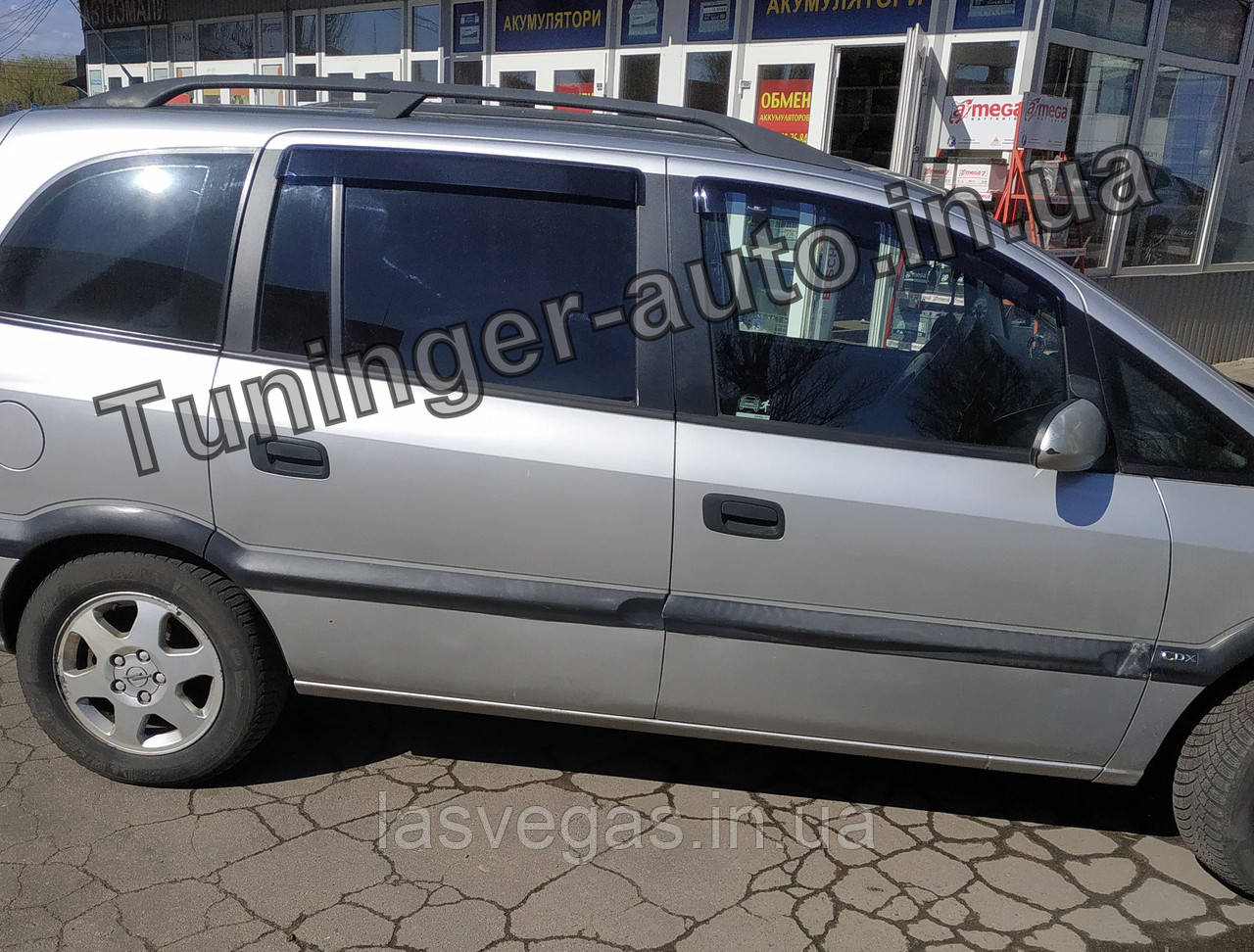 Дефлекторы окон, Ветровики Opel Zafira A 1999-2005 (Hic)