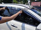 Вітровики з хромом, дефлектори вікон Nissan X-Trail/Nissan Rogue (T-32) 2014-, фото 4