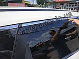 Вітровики з хромом, дефлектори вікон Nissan X-Trail/Nissan Rogue (T-32) 2014-, фото 5