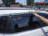 Вітровики з хромом, дефлектори вікон Nissan X-Trail/Nissan Rogue (T-32) 2014-, фото 7
