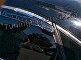 Дефлекторы окон с хром молдингом, ветровики Volkswagen Passat B7/B8 американец 2011-2018, фото 4