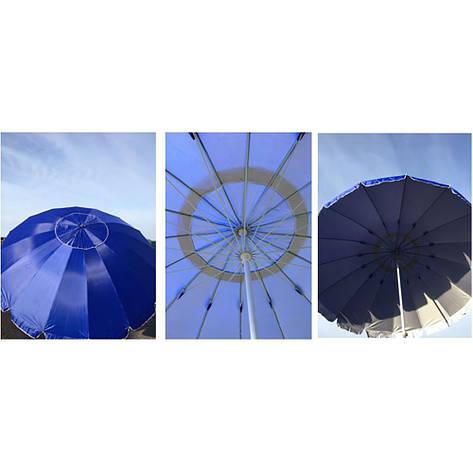Зонт пляжный RB-9310 3м + ПОДАРОК: Настенный Фонарик с регулятором BL-8772A, фото 2