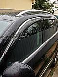 Дефлекторы окон с хром молдингом Volkswagen Tiguan 2007-2016 (Hic), фото 3