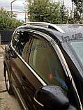 Дефлекторы окон с хром молдингом Volkswagen Tiguan 2007-2016 (Hic), фото 4