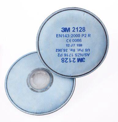 Сменные фильтры ЗМ 2128 Р2 подходят для респираторов серии 3М 6000 и 3М 7500