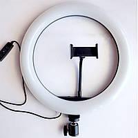 Кольцевая LED лампа USB с держателем для телефона S31 (33 см)