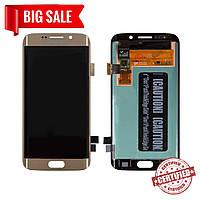 Модуль (сенсор + дисплей) для Samsung G925F Galaxy S6 Edge AMOLED золотой