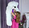 Плюшевый Мишутка большой сидячий, длина 120 см, белый, фото 5