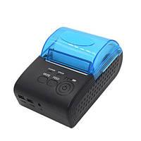 Термопринтер мобильный для чеков Mini ZJ-5805DD 58мм Bluetooth
