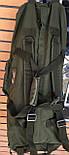Сумка-рюкзак Тактичний олива 100л, фото 2