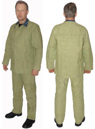 Брезентовий Костюм зварювальника, вогнестійкий,куртка і штани