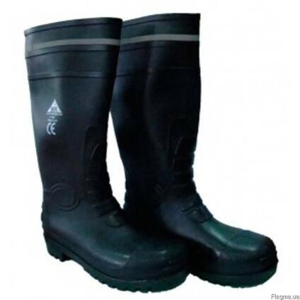 Чоботи шахтарські чорні з мет носком і мет пластиною