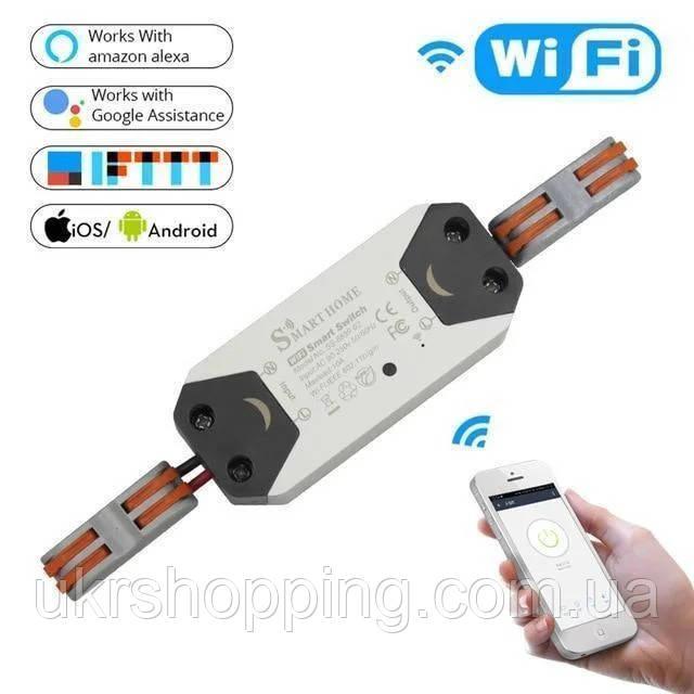 🔝 Бездротовий розумний вимикач smart home google | wifi радіовимикач smart breaker 220V 10A/2200W 2 шт