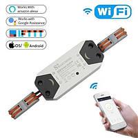 🔝 Бездротовий розумний вимикач smart home google | wifi радіовимикач smart breaker 220V 10A/2200W 2 шт, фото 1