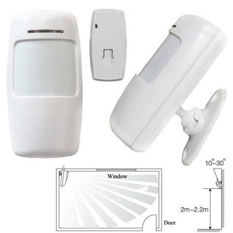 Датчик движения ИК PIR беспроводной 433МГц для GSM сигнализации, тип B, фото 2
