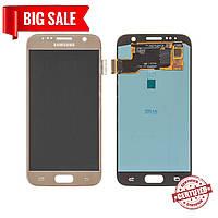 Модуль (сенсор+дисплей) для Samsung G930F Galaxy S7AMOLEDзолотий