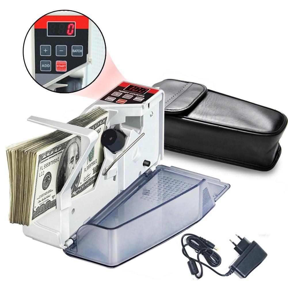 Счетчик банкнот купюр портативный, машина для пересчета EU-V40