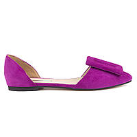Балетки замшевые Woman's heel фуксия (О-904)
