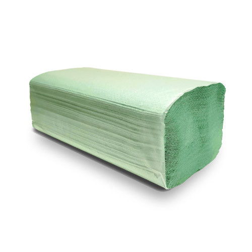 Бумажные полотенца (салфетка) вкладыш ZZ  зеленые 200 листов