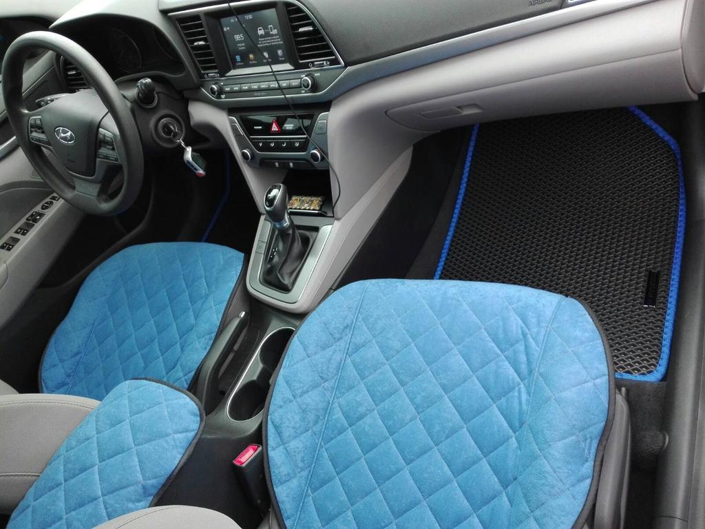 Наши EVA коврики и накидки в салоне Hyundai Elantra AD '16-, АМЕРИКАНЕЦ