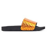 Шлепанцы женские Woman's heel кожаные золотистые (О-900), фото 1