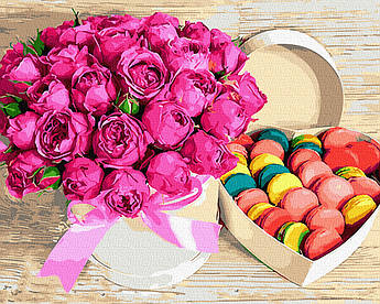 Картина по номерам Цветы и сладости (BK-GX28615) 40 х 50 см