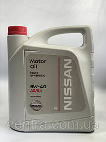 Моторное масло  NISSAN  Synthetic Technology  A3/B4  5W-40 5L