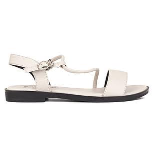 Женские босоножки 37-40 Woman's heel молочные из высококачественной искусственной кожи