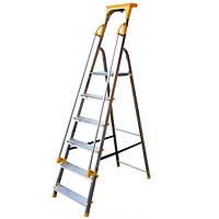 Односторонняя алюминиевая лестница VIRASTAR ALD DSPS06 з поручнем 6 ступеней
