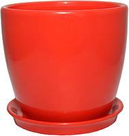 Горшок для растения Зеленая сотка Сонет премиум 12 х 13 см 1 л  Красный 000004511, КОД: 358547