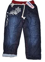 Джинсы детские для девочек 5-8 лет,утепленные.Детская  одежда оптом.