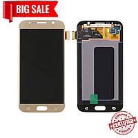 Модуль (сенсор + дисплей) для Samsung G920F Galaxy S6 AMOLED золотой