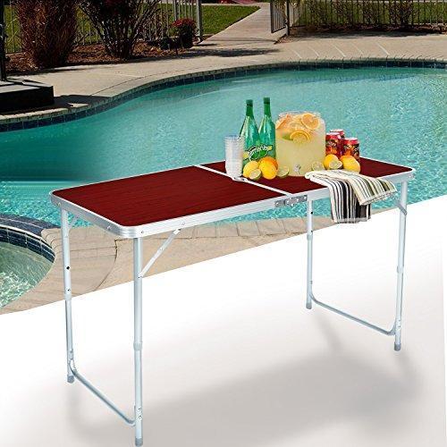 🔥 Набор для пикника раскладной Folding table red стол металлический и 4 стулья