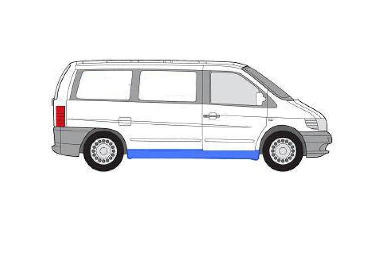 Порог для Mercedes Vito 638 '96-03 правый (FPS) полный